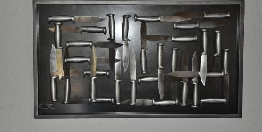 Peinture aux couteaux Xavier Carnet